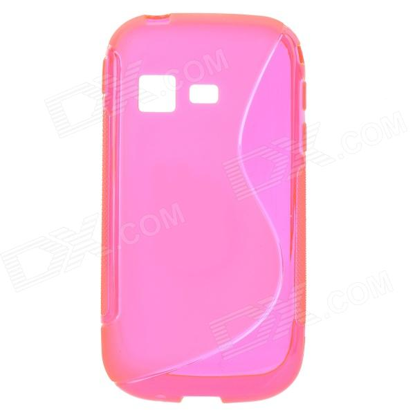 S Pattern Protective TPU Back Case for Samsung B5330 - Deep Pink cute popcorn pattern tpu back case for htc one mini m4 601e blue pink