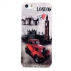 Retro London Pattern Plastic Back Case for Iphone 5 / 5s - Black + Off-white