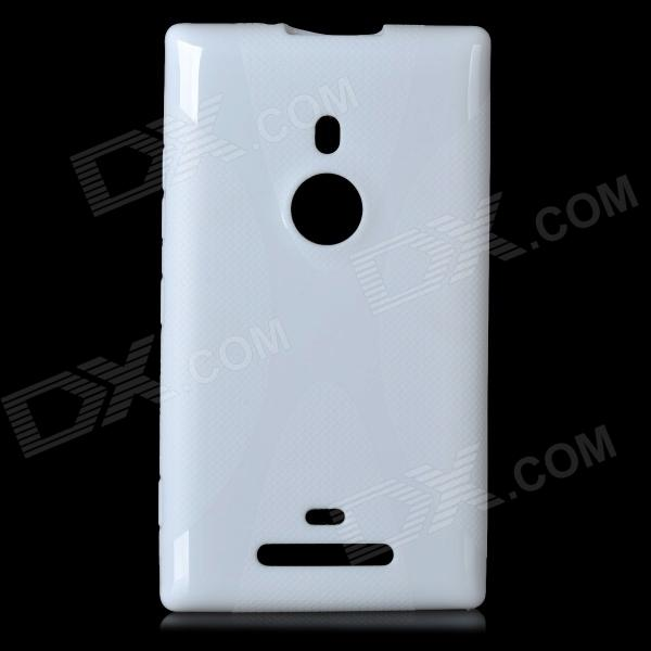 X Style Protective TPU Back Case for Nokia 925 - White protective tpu case for nokia 925 black