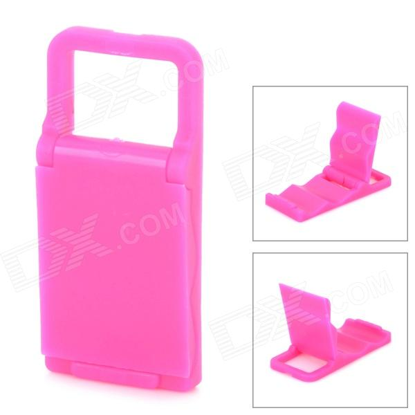 Universal Mini Adjustable Foldable Mobile Phone Stand Holder - Deep Pink