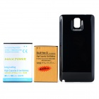 3.8V 7800 / 4200mAh Li-ion Batteries w/ Back Case for Samsung Galaxy Note 3 + More - Black + Golden