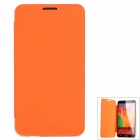 Protective PU Leather + PC Case for Samsung Galaxy Note 3 N9000 / N9500 - Orange + Grey