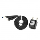AC Charger + USB Data/Charging Cable for Samsung Galaxy Note 3 N9000 / N9005 - Black (EU Plug)