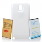3.8V 7600 / 4200mAh Li-ion Batteries w/ Back Case for Samsung Galaxy Note 3 + More - White + Golden