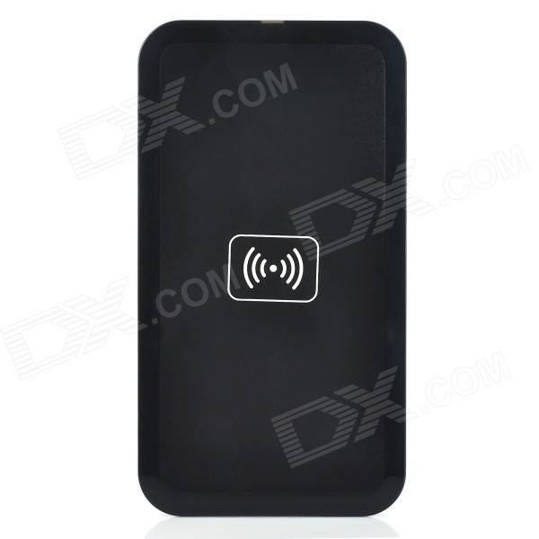 USB 5V 1000mA Qi Wireless Charger w/ Receiving Module Set for Samsung Galaxy Note 3 + More - Black