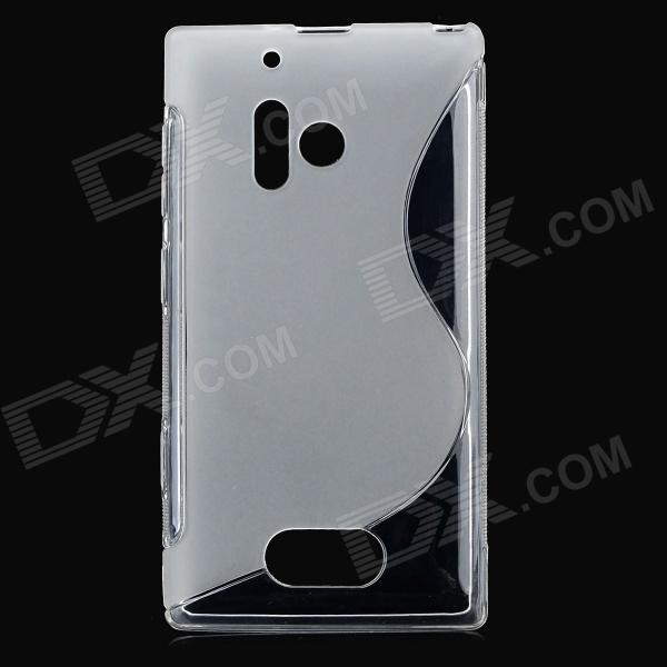 Stylish ''S'' Pattern Protective TPU Back Case for Nokia 928 - Transparent