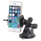 Universal ABS Car Holder w/ Back Support + Suction Cup for Cellphones / Digital Cameras - Black