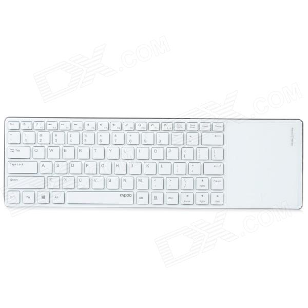 Rapoo E6700 Ultra Slim Bluetooth V3.0 82-Key Keyboard with Touchpad - White 1pk 100