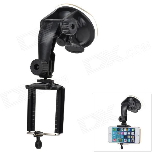 все цены на Universal ABS Car Mount Holder w/ Suction Cup for Cellphones / Digital Cameras - Black онлайн