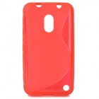 Stylish S Pattern Protective TPU Back Case for Nokia 620 - Red