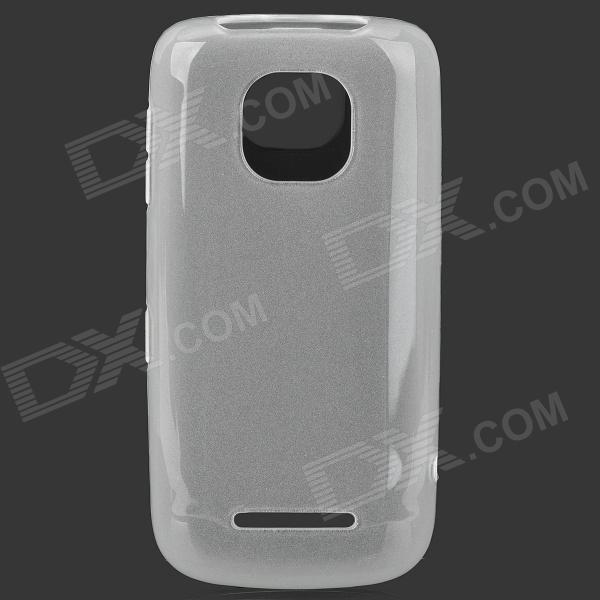 Simple Plain Protective TPU Back Case for Nokia 311 - Translucent