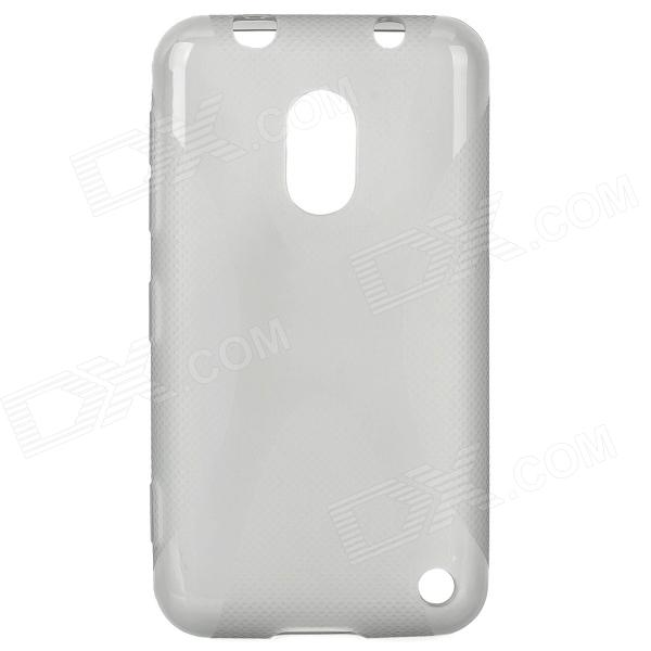 Stylish X Pattern Protective TPU Back Case for Nokia 620 - Translucent Grey s style protective soft tpu back case for nokia lumia 928 translucent grey