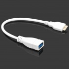 USB 3.0 Micro B TYPE Male to USB Female OTG Cable for Samsung Note 3 N9000 - White (22cm)