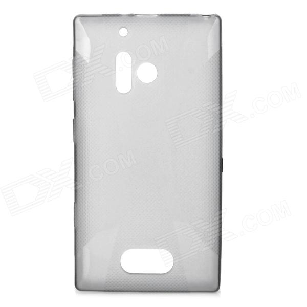 Stylish Simple Plain TPU Back Case for Nokia 928 - Translucent Grey s style protective soft tpu back case for nokia lumia 928 translucent grey