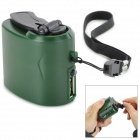 Dynamo Hand Crank USB Cell Phone Emergency Charger -Green