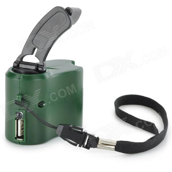 Dynamo Hand Crank Usb Cell Phone Emergency Charger Green