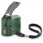 Dynamo Hand Crank USB Cell Phone Emergency Charger - Green