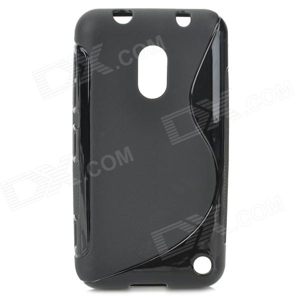Simple Stylish S Pattern Protective TPU Back Case for Nokia 620 - Black