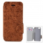 Protective Pu Leather + Plastic Case w/ Stand + Card Slot for Iphone 5C - Brown