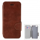 Protective PU Leather + Plastic Case w/ Card Holder Slot for Iphone 5 / 5s - Brown