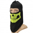 Qinglonglin Outdoor Sports Motorcycle Riding Warm Hat / Face Mask - Black + Green (Free Size)