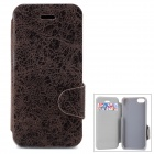 Protective PU Leather + Plastic Case w/ Card Holder Slot for Iphone 5C - Brown