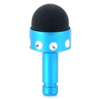 2-in-1 3.5mm Anti-Dust Plug + Stylus Pen for Cell Phone - Blue + Black