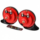 Snail Style Car Auto Parts Air Horn Speaker  - Black + Red (12V / 2 PCS)