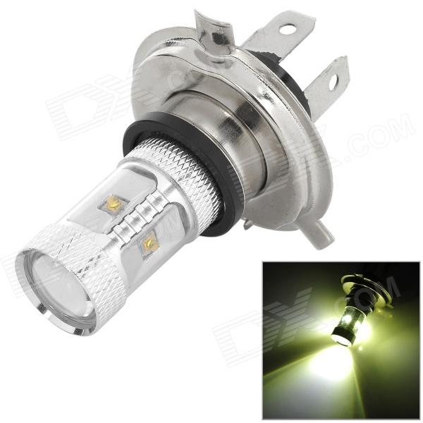 H4-18W H4 18W 550lm 6500K 6-3535 SMD LED White Light Car Foglight - Silver (9~24V) highlight h3 12w 600lm 4 smd 7060 led white light car headlamp foglight dc 12v