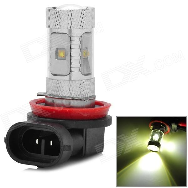 H8 18W 348lm 6500K 6-3535 SMD LED White Light Car Foglight - Silver + Black (9~24V)