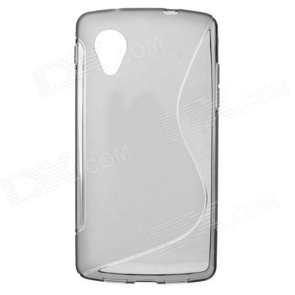 Simple S Pattern Anti-slip TPU Back Case for Google LG NEXUS 5 - Grey