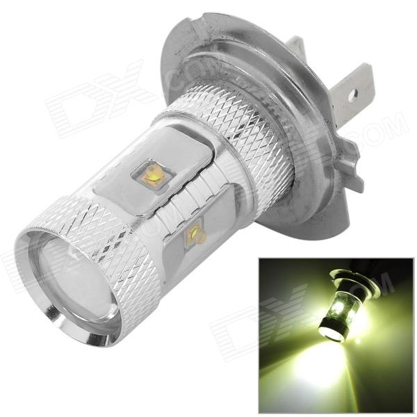 H7-18W H7 18W 550lm 6500K 6-3535 SMD LED White LIght Car Foglight - Silver (9~24V)