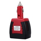 Multifunction 12V DC para 220V AC Car Power Inverter - Preto + Vermelho