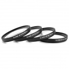 EOSCN 43mm Kamera +1 / +2 / +4 / +10 Suurennus Close-Up Lens Set - Musta