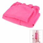 LX-9009 Cozy Fiber Bath Towel + Shower Cap - Deep Pink