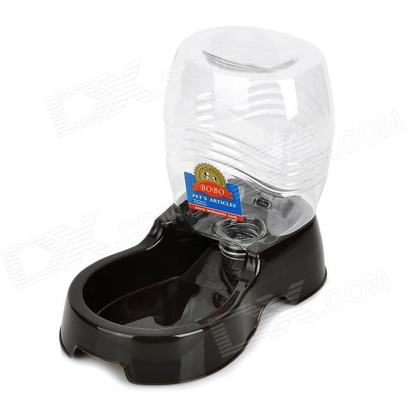 Plastic Auto-feeding Bowl for Pet Dog / Cat - Black + White (946.3ml)