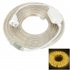 14.4W 240lm 3500K 180 SMD 3528 LED Warm White Light Decoration Strip - Transparent (220V / 3.5m)