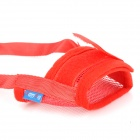 A088 Velcro Tape Breathing Nylon Mesh Dog Muzzle - Red