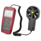 "NICETY AM841 2.2"" LCD Wind Speed / Temperature / Airflow Meter - Red + Black (1 x 6F22)"