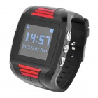 MP2030 1.4'' LCD GSM GPS Tracking Wrist Watch - Black + Red