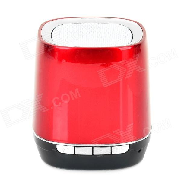 X2000 BL-03 Portable Bluetooth v3.0 Speaker w/ TF / Microphone / Hands-Free - Red + Silver + Black
