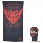Yongruih G-Z 18 Multifunction Outdoor Sports Seamless Head Scarf - Black + Red