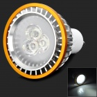 Y30 3W 65lm 6000K White 3-LED Spot Light - Silver + Golden (220V)
