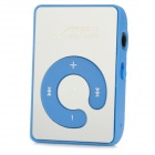 USB Rechargeable MP3 Player w/ Micro SD - Blue + Silver