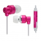 OFNOTE In-Ear Earphone w/ Microphone - Deep Pink (3.5 mm Plug / Cable 100cm)