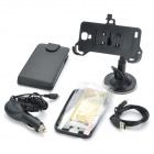 PU Protective Case + Back Case + USB Cable + Mount Holder + Car Charger for Samsung Galaxy S4 i9500