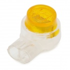 K1 Insulation Plastic Waterproof Ethernet Wire Terminal Connectors - Yellow + Translucent (50 PCS)