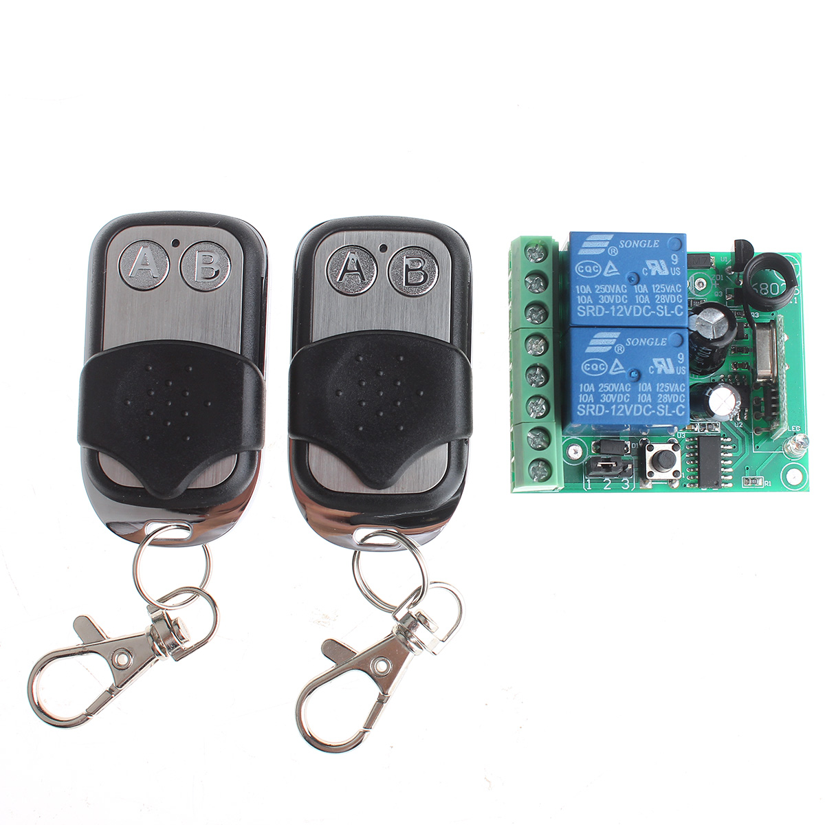 DIY Electronics 209411 VGG06 12V 315MHz 2-CH Wireless Remote Switch w/ 2-Remote Controls