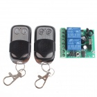 VGG06 12V 315MHz 2-CH Wireless Remote Switch w/ 2-Remote Controls - Black