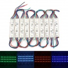 DDR8 6W 120LM RGB LED Light Bar - White (10 PCS) (12V)
